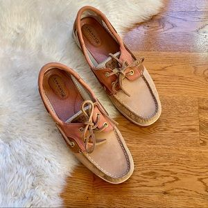 Sperry Pink Mesh Boat Shoe